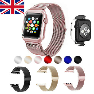 For Apple Watch Series 1/2 & 3 Luxury Milanese Loop Clasp Band Strap 38MM42M UK