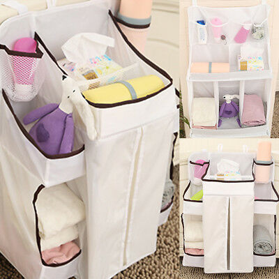 Nice Baby Bed Crib Nursery Storage Organizer Hanging Bag for Toy Diaper Clothes