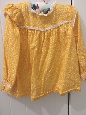 Little Bird by Jools Oliver mustard blouse 18-24 months