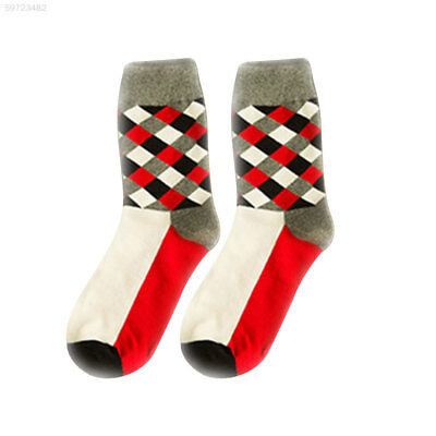 346A Soft Breathable Casual Women Girls Warm Socks Fit Cotton Plaid Comfort