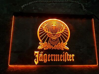 Jägermeister LED-Schild. Orange