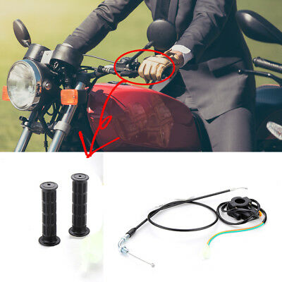 Throttle Cable 7/8'' Handlebar Grip Kill Switch For 49cc-80cc Motorized Bicycle