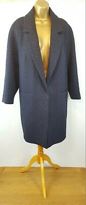 18 Designer Per Una Navy Baroque Boyfriend Autmn/wint Dress Coat See Other Items