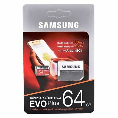 SAMSUNG Micro SD card 64 GB u3 Memory Card EVO Plus 64GB Class10 TF Card C10 80M
