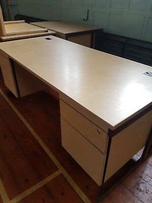 Large desk with peds  please read description  very specific pick up Yeovil