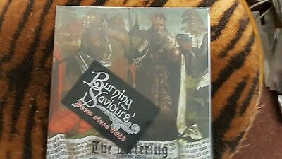 BURNING SAVIORS  the offering  Single  Red Vinyl + Patch  100 Copies