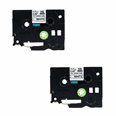 Molshine 2 Pack Compatible Label Tape for Brother HSE-231 HSE231 HS231 HS-231 He