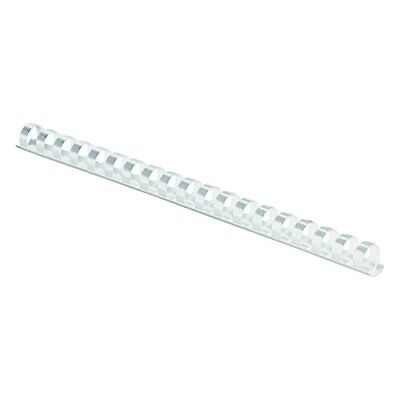 "Fellowes 52371 Plastic Comb Bindings, 3/8"" Diameter, 55 Sheet Capacity, White (P"