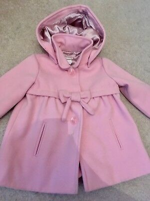 Monsoon pink traditional girls coat size 18-24