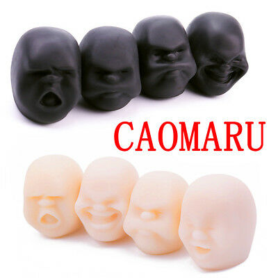 4PCS CAOMARU Anti-stress Squeeze Toy Exercise Stress Pressure Reliever Face Ball