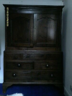 antique oak wardrobe/linen press