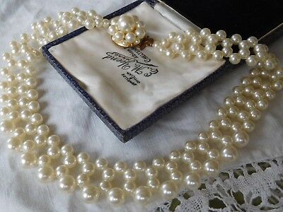 Pretty Vintage 1950s Pearl COLLAR Necklace
