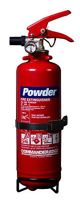 CommanderEDGE ABC Dry Powder Fire Extinguisher 1kg, 2kg, 3kg, 4kg, 6kg & 9kg