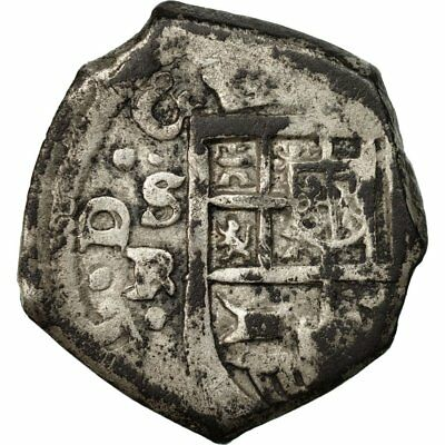[#511270] Coin, Spain, Philip IV, 2 Reales, Seville, Rare, EF(40-45), Silver