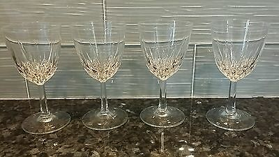 "SET OF 4 WINE CRYSTAL GLASSES Luminarc D'Arques France  Clear, 5.75"", 4 ounces"