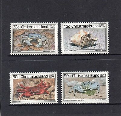 CHRISTMAS Island 1985 CRAB Marine Life set of 4  MNH - 2nd Series - Wildlife.