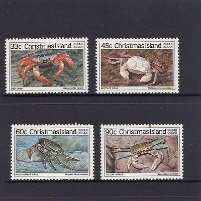 CHRISTMAS Island 1985 CRAB Marine Life set of 4  MNH - 3rd Series - Wildlife.