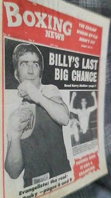 Mar 3Rd  1978 Boxing News  Billy Aird V Alfredo Evangelista Preview/colin Powers