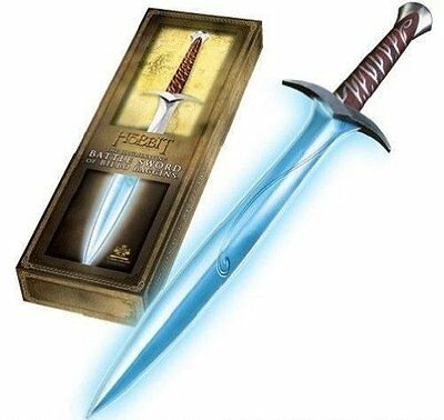 "NEW Lord Of the Rings Hobbit Sting FX 27"" Sword Bilbo Baggins Illuminating Sound"