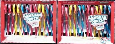 2x HAWAIIAN PUN Candy Canes 'Fruit' Zuckerstangen 24St =300 gr Original  aus USA
