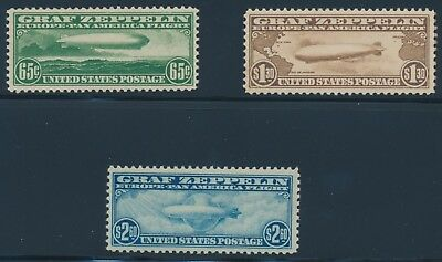 "#C13-C15 Zeppelin Set Vf+ Og Nh (#C14 With Pse ""80"" Cert) Wlm6809  Gpc18"