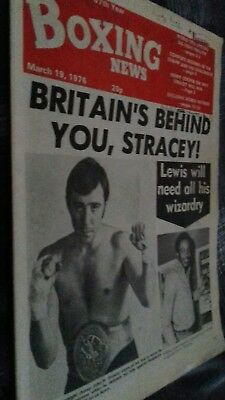 Mar 19Th  1976 Boxing News Stracey V Lewis Preview/world Ratings