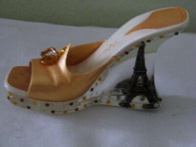 COLLECTIBLE MINI JUST THE RIGHT SHOE OH LA LA EIFFEL TOWER in ACRYLIC HEEL
