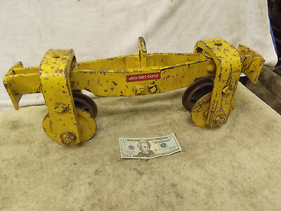 "1Ton OverHead Hoist Trolley 2"" Straight or Curved 2000 lb. 4"" wheels 15"" Long"