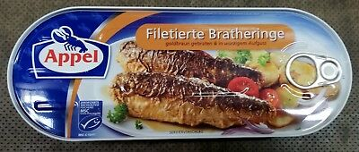 Filetierte Bratheringe goldbraun gebraten in würzigem Aufguss 325 g Dose