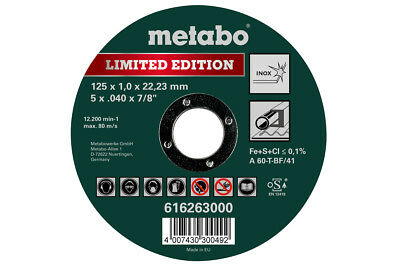 25 Metall Metabo Trennscheibe Special Edition 125 x 1,0 x 22,23 Inox - 616261000