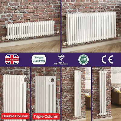 Bathroom White Vertical | Horizontal Traditional Iron Cast Style Column Radiator