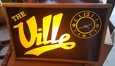 bar light - the ville light with electric clock