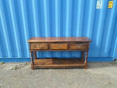 Recrafted Circa 18thC Solid Oak Antique Sideboard Server Dresser Delivery