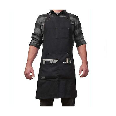 Work Apron with Tool Pockets for Men and Women Heavy Duty Waxed Canvas Tool A...