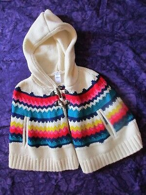 Old Navy Girls Poncho Toggle Buttons Size 3 T