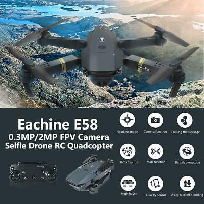 Mini Foldable Drone 0.3MP/2MP Camera WIFI FPV RC Quadcopter With 2 batteries MB