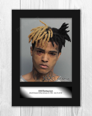 XXXTentacion (1) A4 signed mounted photograph picture poster. Choice of frame.