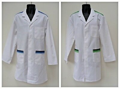Alexandra Mens Vintage White  Lab Doctor Coat Warehouse Overall  MADE IN UK   H9