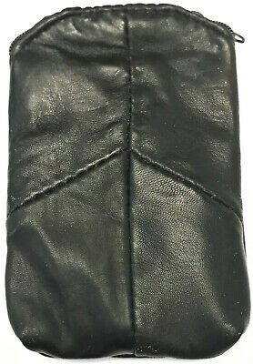 Eclipse Black Full Lamb Skin Cigarette Pouch Case Zipper, Lighter Holder, 3202Z