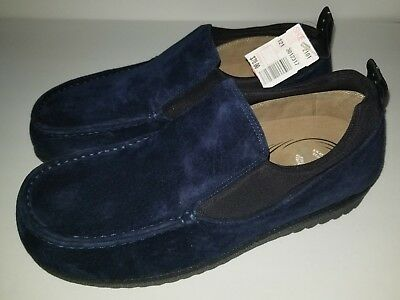 Vintage Hush Puppies Body Moc Slip On Shoes Slippers Size 9 Brand New Blue
