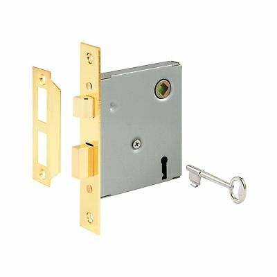 Prime-Line E 2294 Vintage Style Mortise Lock Assembly, 5-1/2 in. Face Plate, ...