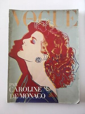 Paris Vogue: December 1983, Caroline De Monaco By Andy Warhol