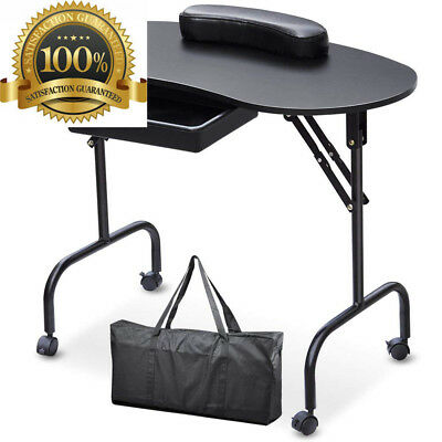 SWT Portable Manicure Table Nail Technician Desk Workstation With Bag &...