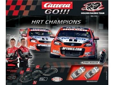 Carrera GO HRT Champions 1/43 Holden Commodore VF Racing Car Set / Slot Car Set