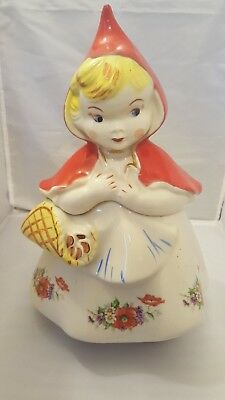 Rare! Vintage! 1940's Hull Pottery Little Red Riding Hood Cookie Jar