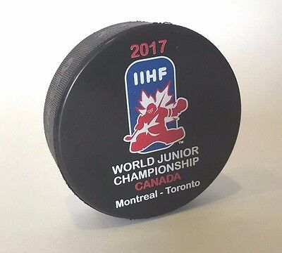 Official Iihf Game Hockey Puck  2017 World Junior U20 Canada