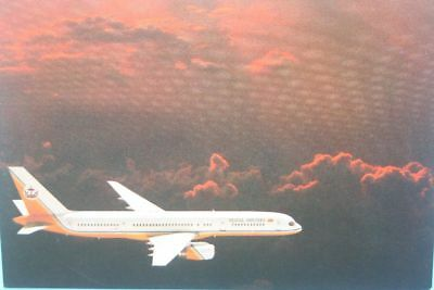 AK Airliner Postcard ROYAL BRUNEI B.757 airline issue