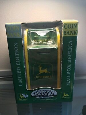 Retired Vintage 1998 Gearbox John Deere Limited Mailbox Coin Bank New In Box