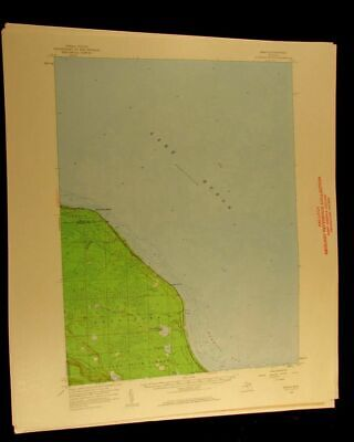 Grace Michigan 1959 vintage USGS Topographical chart map