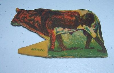 Early 1900's Cracker Jack Prize - Lithograph Cow - Germany